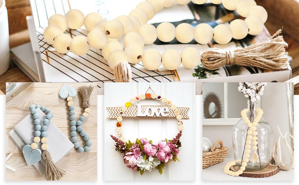 wood beads garlands