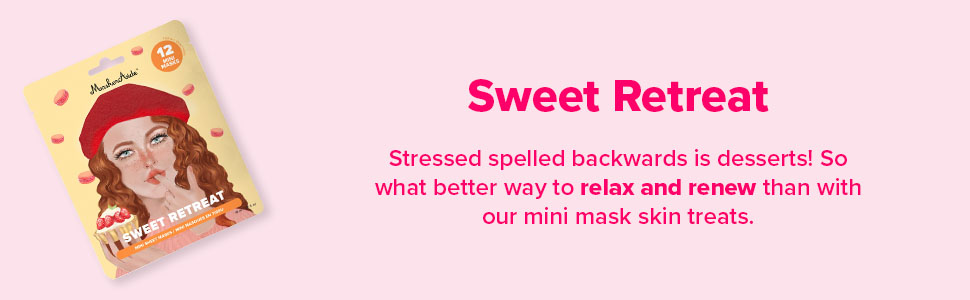 Sweet Retreat Hydrating Mini Sheet Masks in Super Cute Dessert Designs