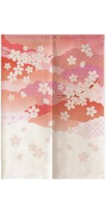暖簾 のれん カーテン しだれ桜 目隠し パーテーション 間仕切り 壁飾り 仕切り 玄関 洗濯可能 おしゃれ インテリア ミッドセンチュリー シンプル ナチュラル つっぱりカーテ