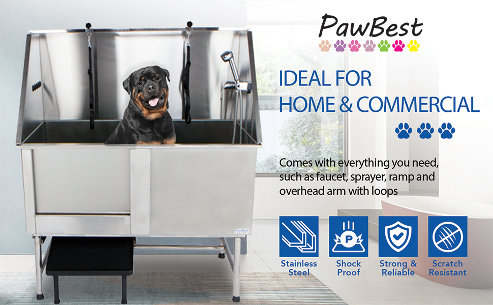 PawBest Stainless Steel Bathtub