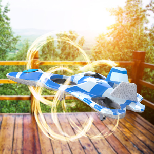 Mayceyee F22 Drone for Kids and Beginner_Blue_3-4