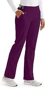 barco grey's anatomy spandex stretch gvsp515 women's bootleg scrub pant
