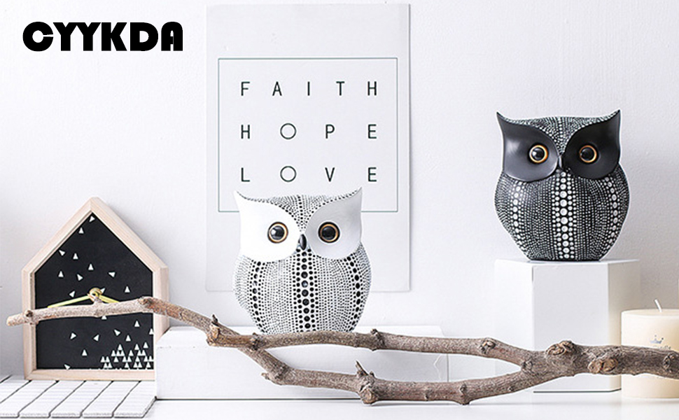 Owl Statue Decor Buho Figurines for Home Decor  Living Room Bedroom Office Decoration