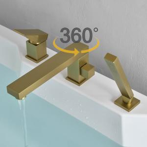 bathtub faucet brushed gold