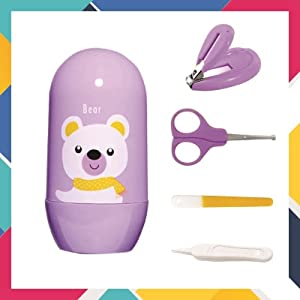 SYGA Baby, Infant and Toddler Blue Grooming Kit with Scissors – The Best Unique Baby Shower Gift for Girls and Boys