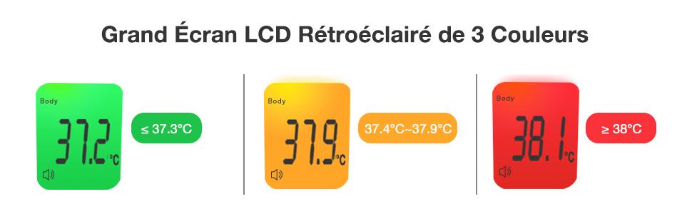 Thermometre Adultes avec Fonction M/émoire thermometre infrarouge avec Alerte Fi/èvre Thermom/ètre Frontal SUCETE 4 en 1 thermom/ètre sans contact