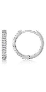 hoop diamond small for women earrings hoops medium comfortable everyday wedding holiday gift her