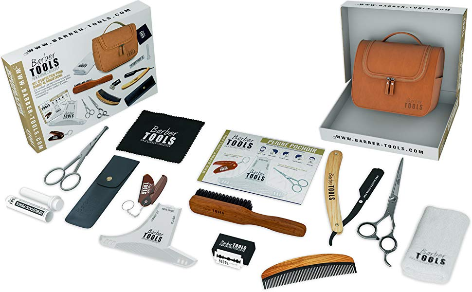Kit de cuidado y cuidado para barba y afeitado. 10 Accesorios ✮ BARBER TOOLS ✮: Amazon.es: Salud y cuidado personal