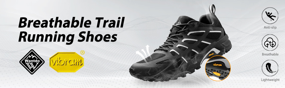 Wantdo Breathable Trail Running shoes