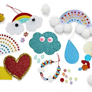 completed head in the clouds craft kit colorful kids arts and craft kit diy