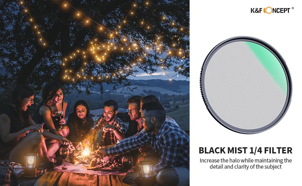 K F Concept Black Mist 1 4 Filter 77mm Black Promist 1 Kamera