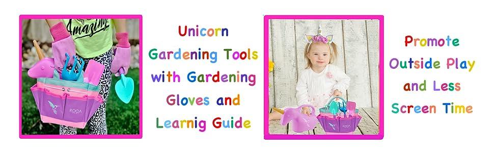 gardening tools unicorn toy gifts girls gloves