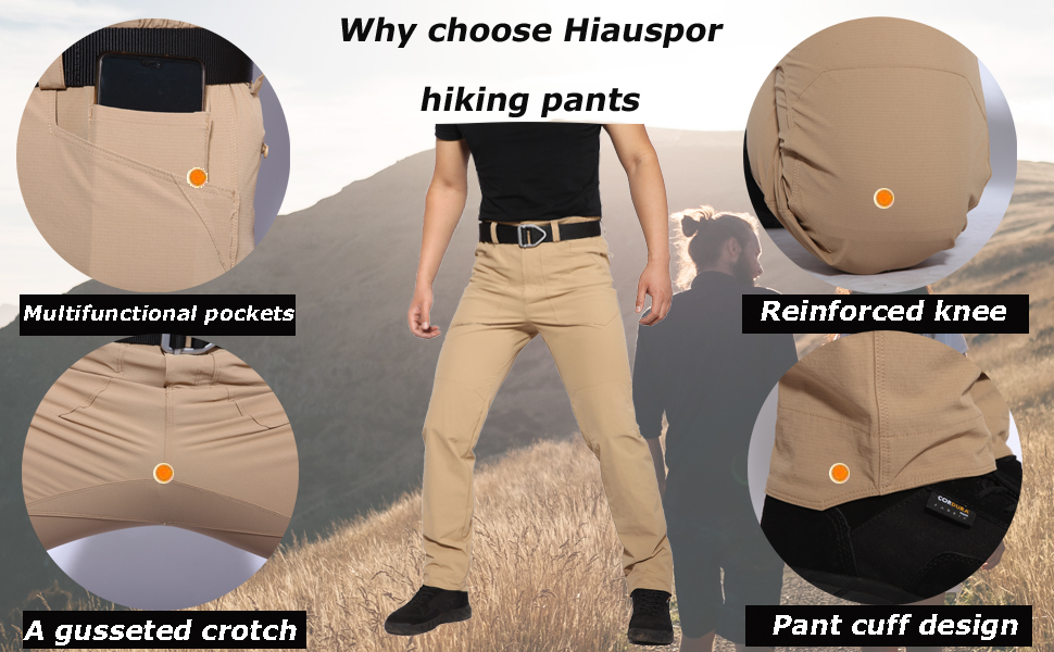mens hiking pants for summer outdoor travel camping lightweight pocket resistant fishing