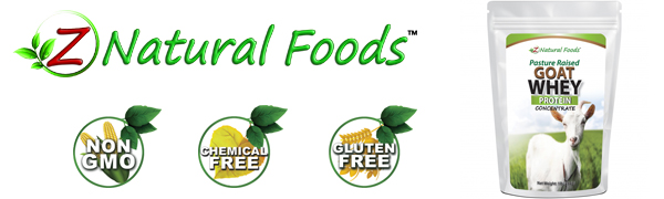 z natural foods goat whey protein concentrate