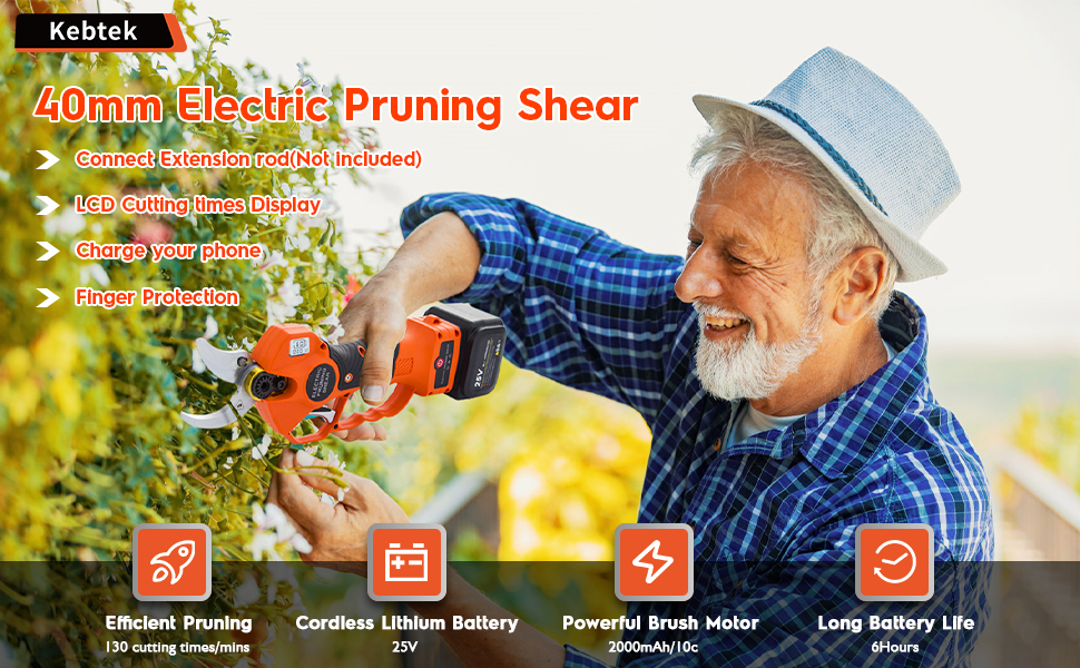 Battery Powered Pruning Shears