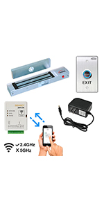 wifi door controller electromagnetic lock push to exit buttons