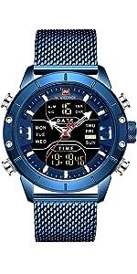 men sport digital watch blue