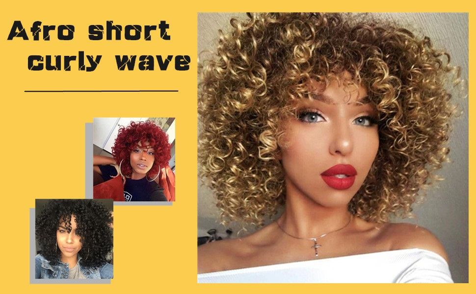 afro short curly wave