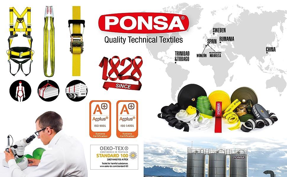 PONSA-CPK7 KIT COMPLETO: Arnés anticaídas con 2 puntos anclaje EN ...