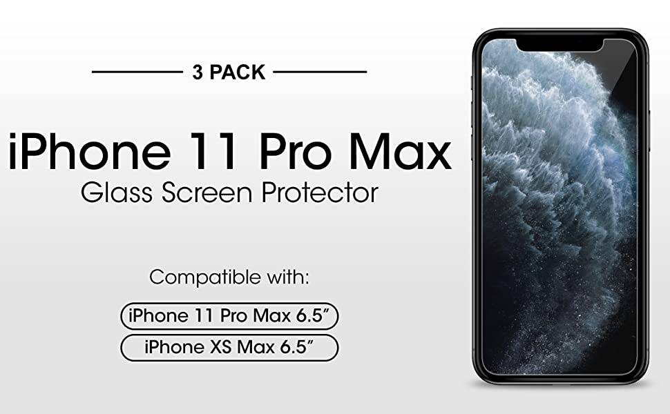 No Retail Package LGYD for 50 PCS Matte Frosted Tempered Glass Film for iPhone Xs Max//iPhone 11 Pro Max