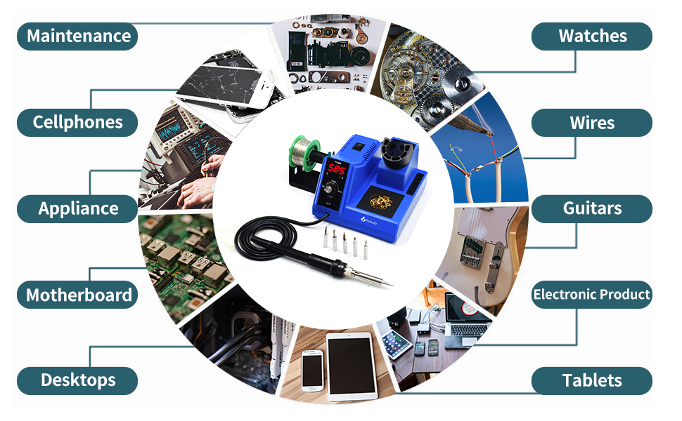 80W Digital Soldering Iron Station Kit
