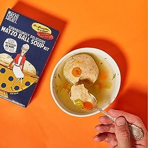 Matzo Ball Soup Kit amp; Matzo Crumbs Mix Crackers Flats Bread Kosher Passover Dairy Free no artificial