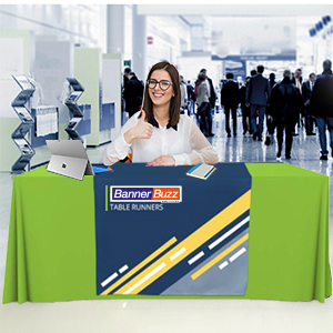 marketing display runner table cloth cover