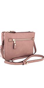 crossbody purse, shoulder purse, vegan, faux leather, double compartment, bolsa, brentano