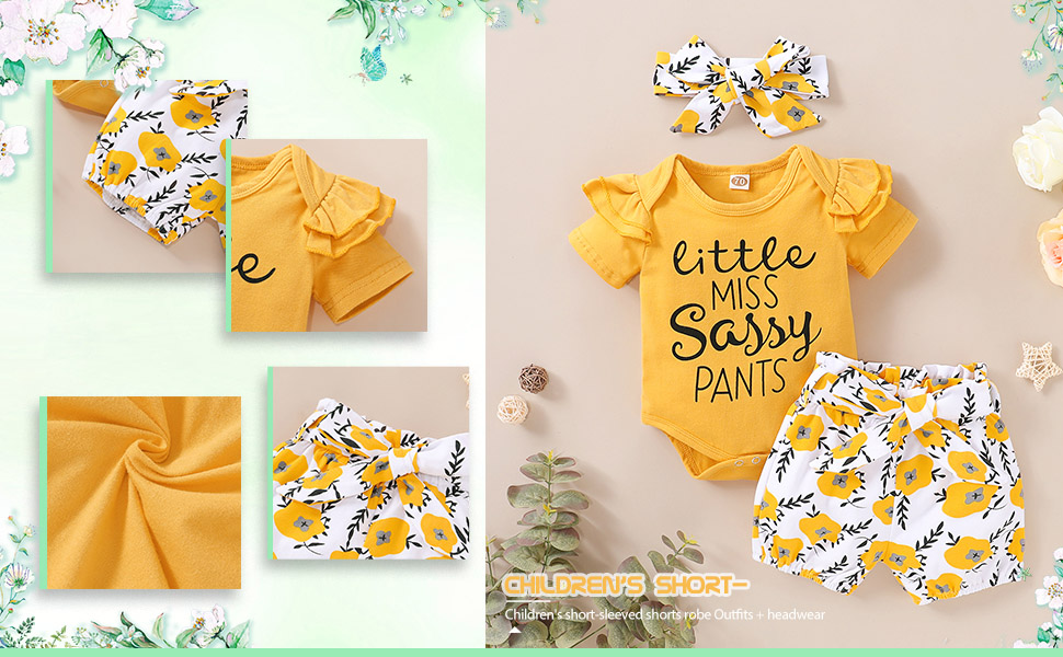 Baby Girl Little Miss Sassy Pants Outfit