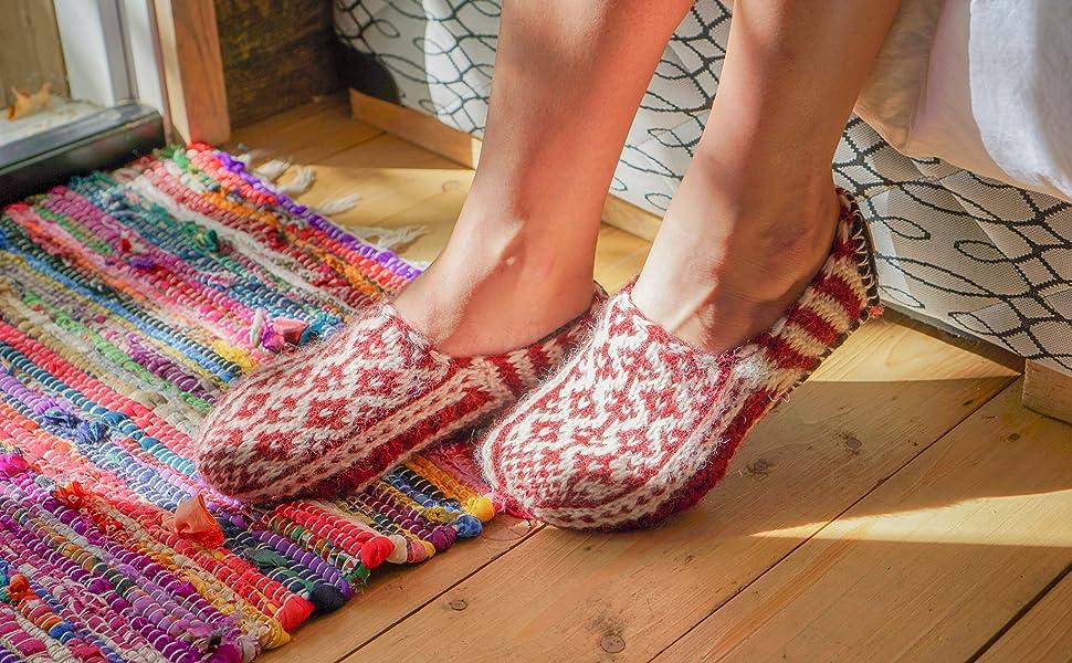 Wool Slipper Booties