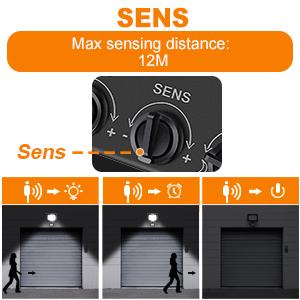 led security lights with motion sensor