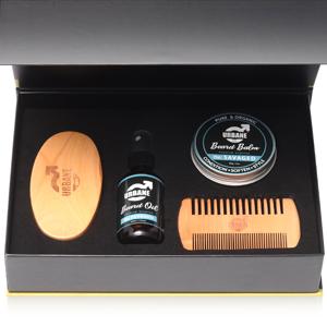 beard grooming set care kit growth shampoo sandalwood jojoba argan essential oil