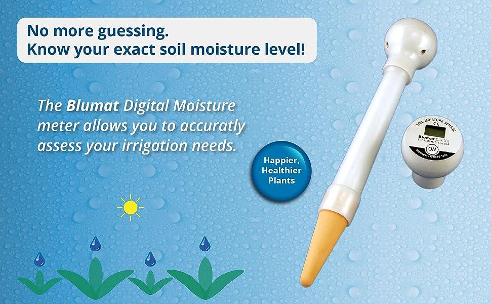 moisture meter water irrigation plants soil watering mbar tensiometer tension accurate ceramic