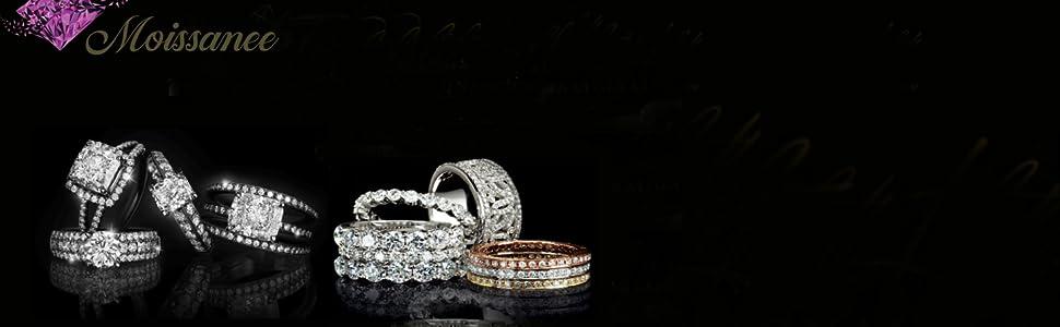 Moissanee Discount Moissanite stud diamond earrings
