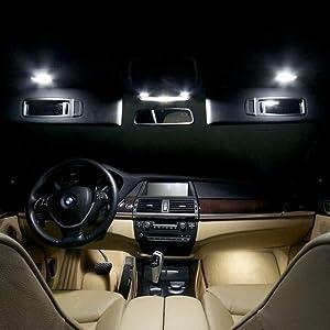 Fit 3W LED Sun Visor Vanity Mirror Lights For BMW 3 5 Series X1 X3 X5 X6