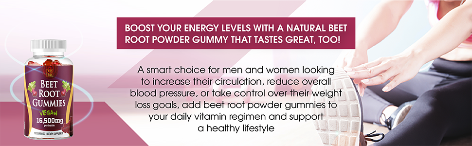 beet root gummies boost your energy levels