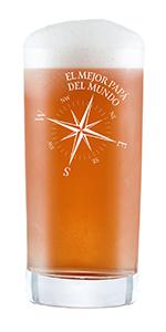 AMAVEL Vaso de Whisky, para Papá Capitán, con Barco Velero ...