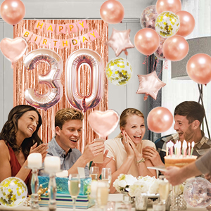 30th happybirthday balloon party decorations for women