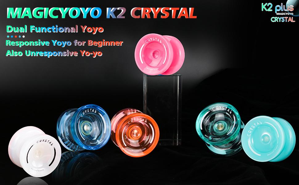 Rosa con Rodamiento KK de repuesto para intermedios avanzados removedor de cojinetes bolsa yoyo para principiantes MAGICYOYO Sensible Yoyo para ni/ños K2 PLUS proposito doble 5 cuerdas de yoyo
