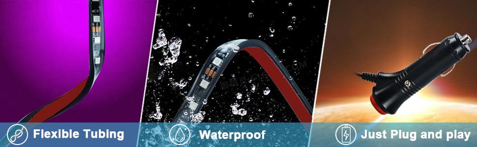 Flexible Tubing, Waterproof and plug and play