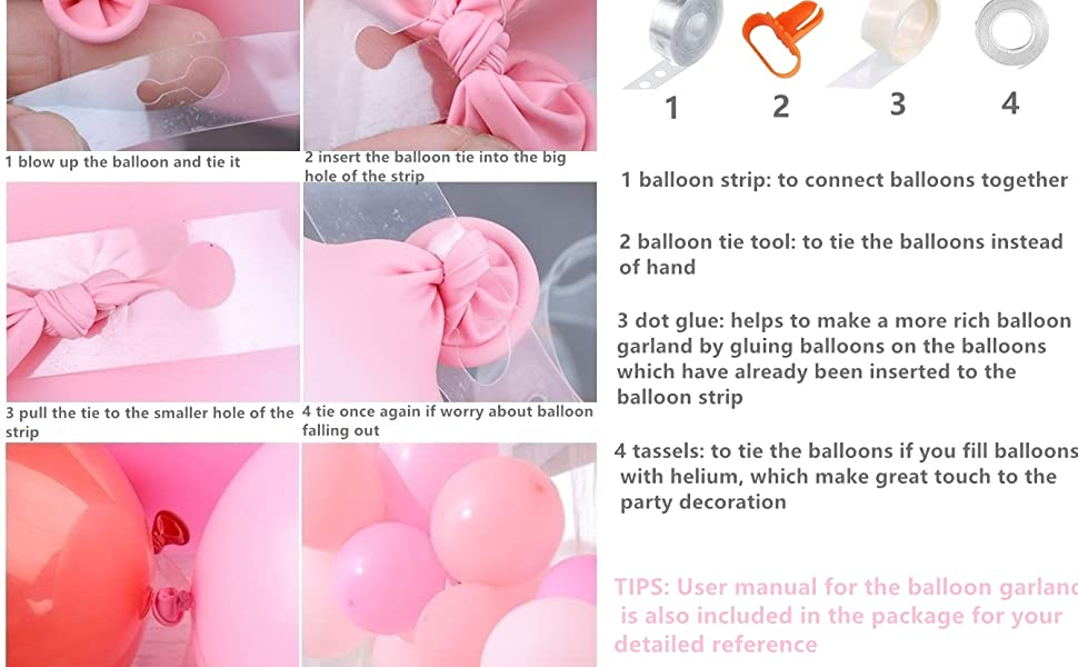 how to make pink silver balloon garland