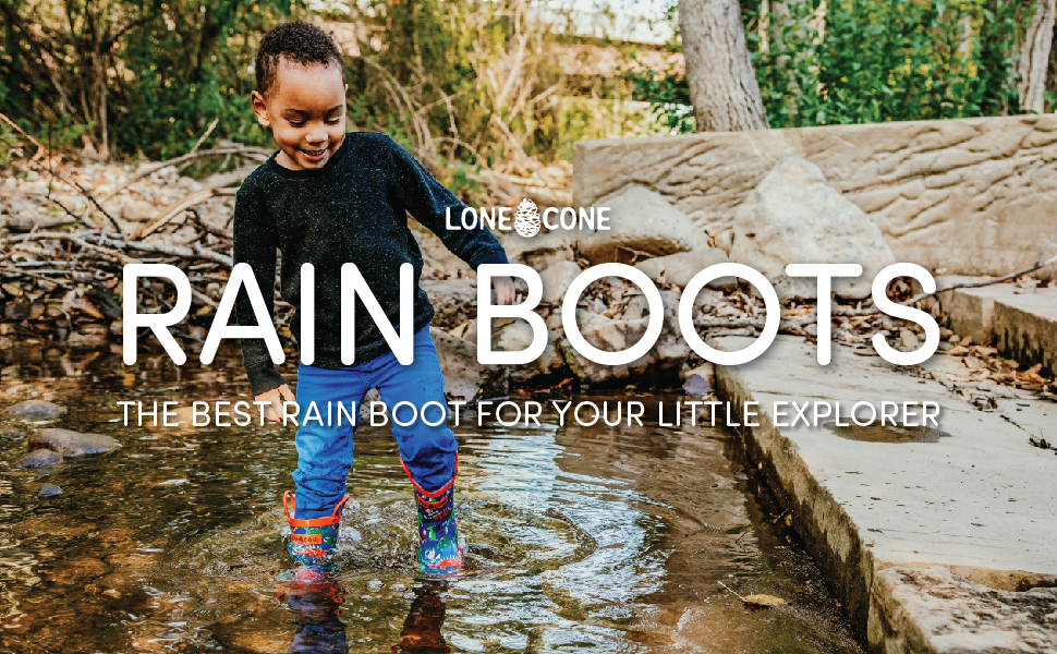LONECONE Rain Boots for Toddlers and Kids
