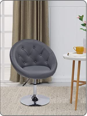 Duhome Jumbo Size PU Leather Swivel Accent Chair Vanity Chair