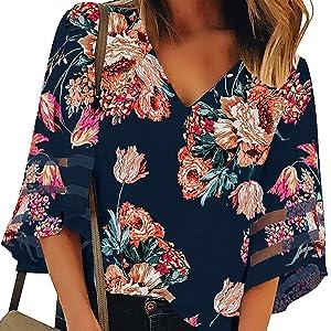 women summer boho t shirt