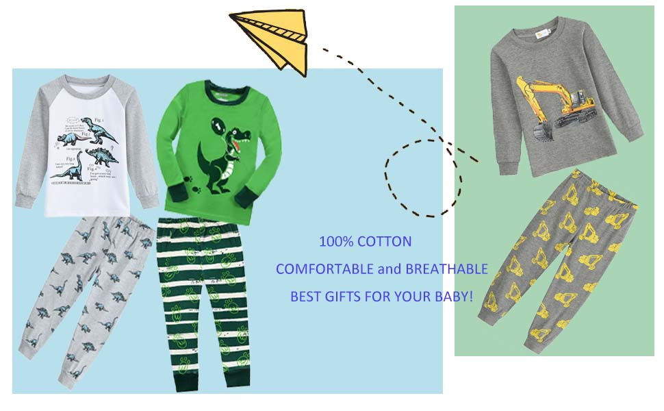 DHASIUE Boys Pyjamas Sets Clothes 100/% Cotton Pjs Toddler Kids Halloween Costumes Winter Long Sleeve Sleepwear 1-7 Years
