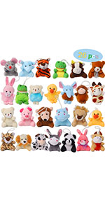 26 Pack Mini Animal Plush Toy Set
