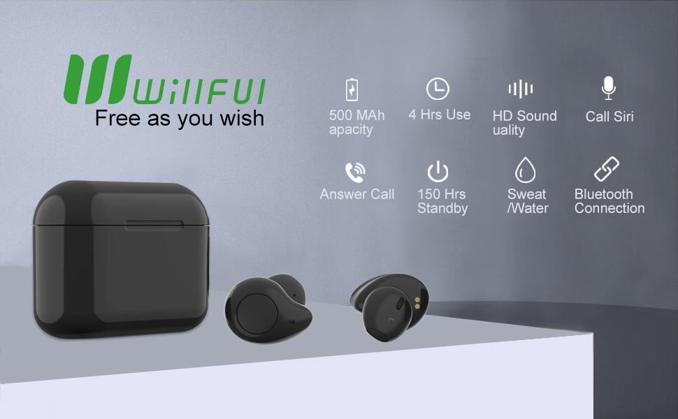 willful wireless earbuds earphones bluetooth