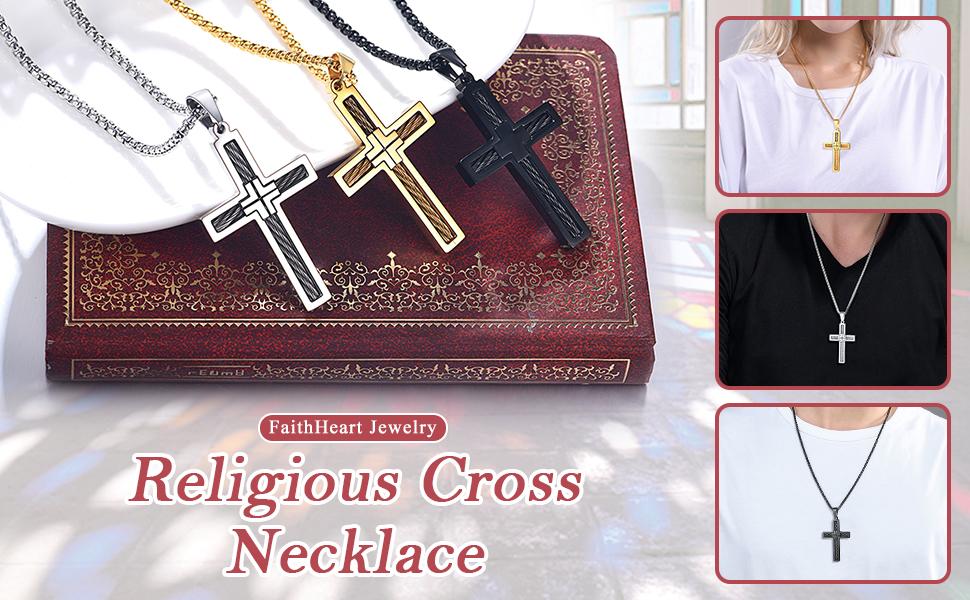 FaithHeart cross necklace