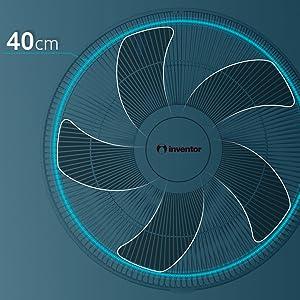 Inventor Ventilador de Pie FN40B, 55W, 3 Velocidades, Motor de ...