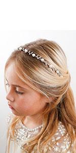 Pearl Flower Girl Headband